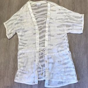 Beach Bunny white lace swim cover up adjustable